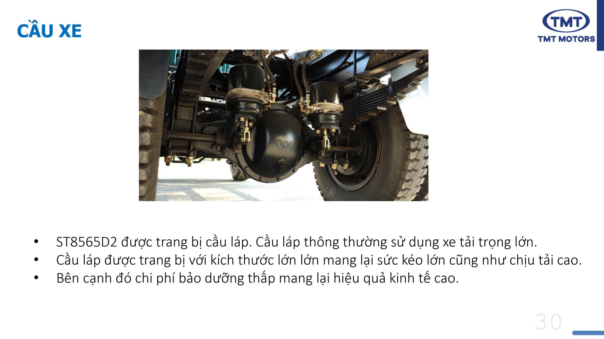 Xe Ben 6.5 Tấn 2 Cầu