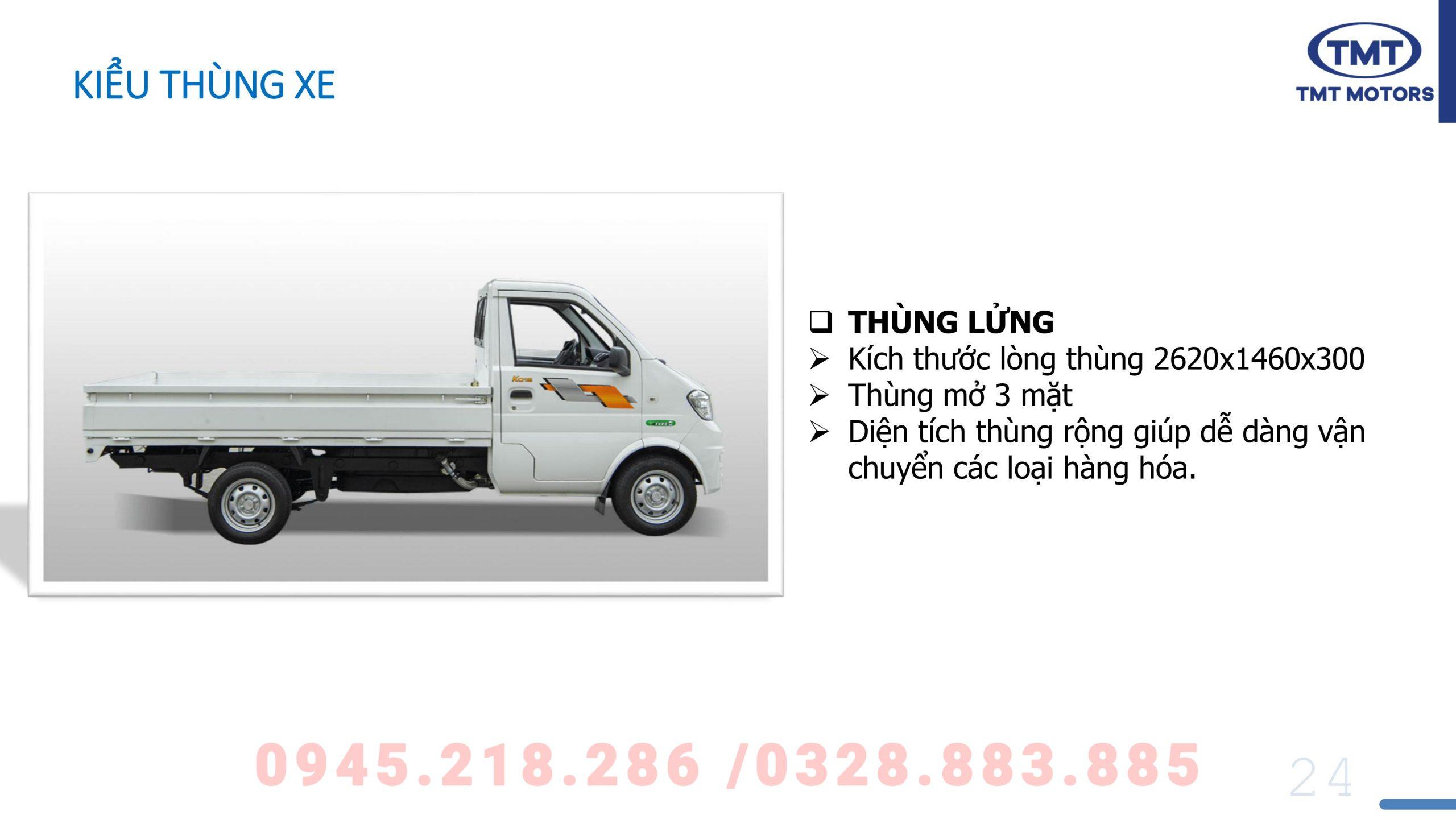 Giá xe tmt k01s thùng lửng