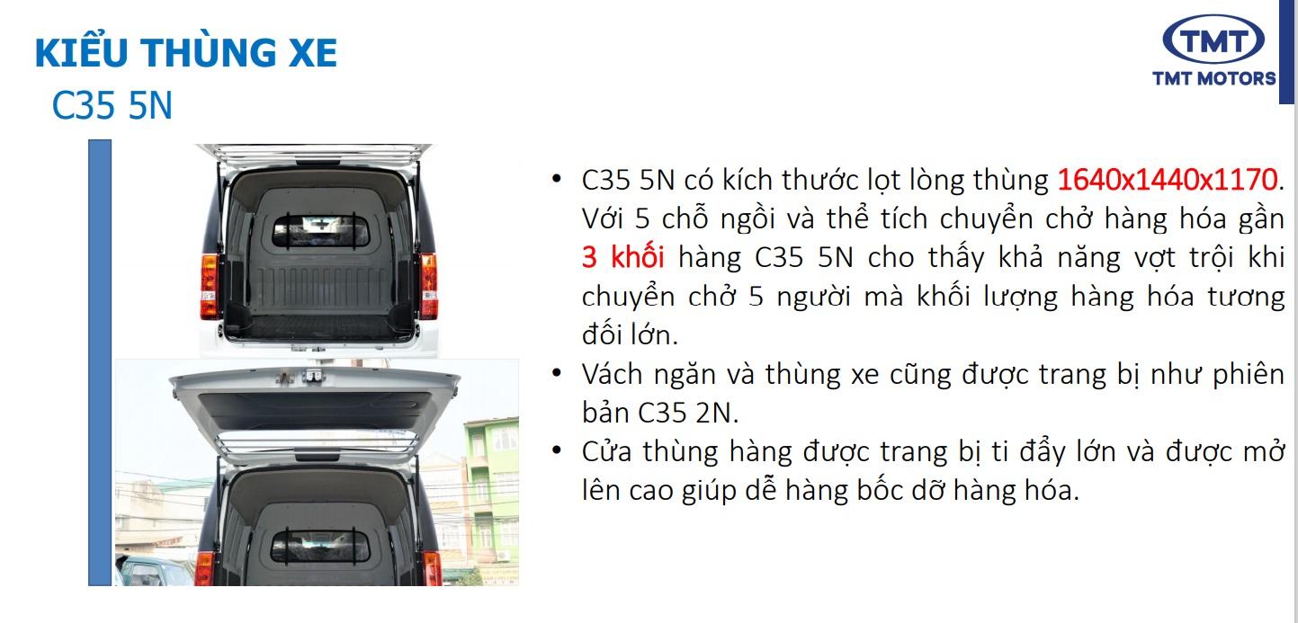 Thùng Xe Tải Van TMT C35 5 chỗ ngồi 945KG