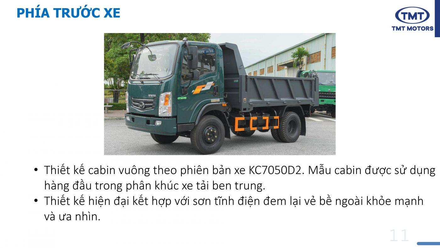 xe ben 5 tấn 2 cầu TMT KC7050d2