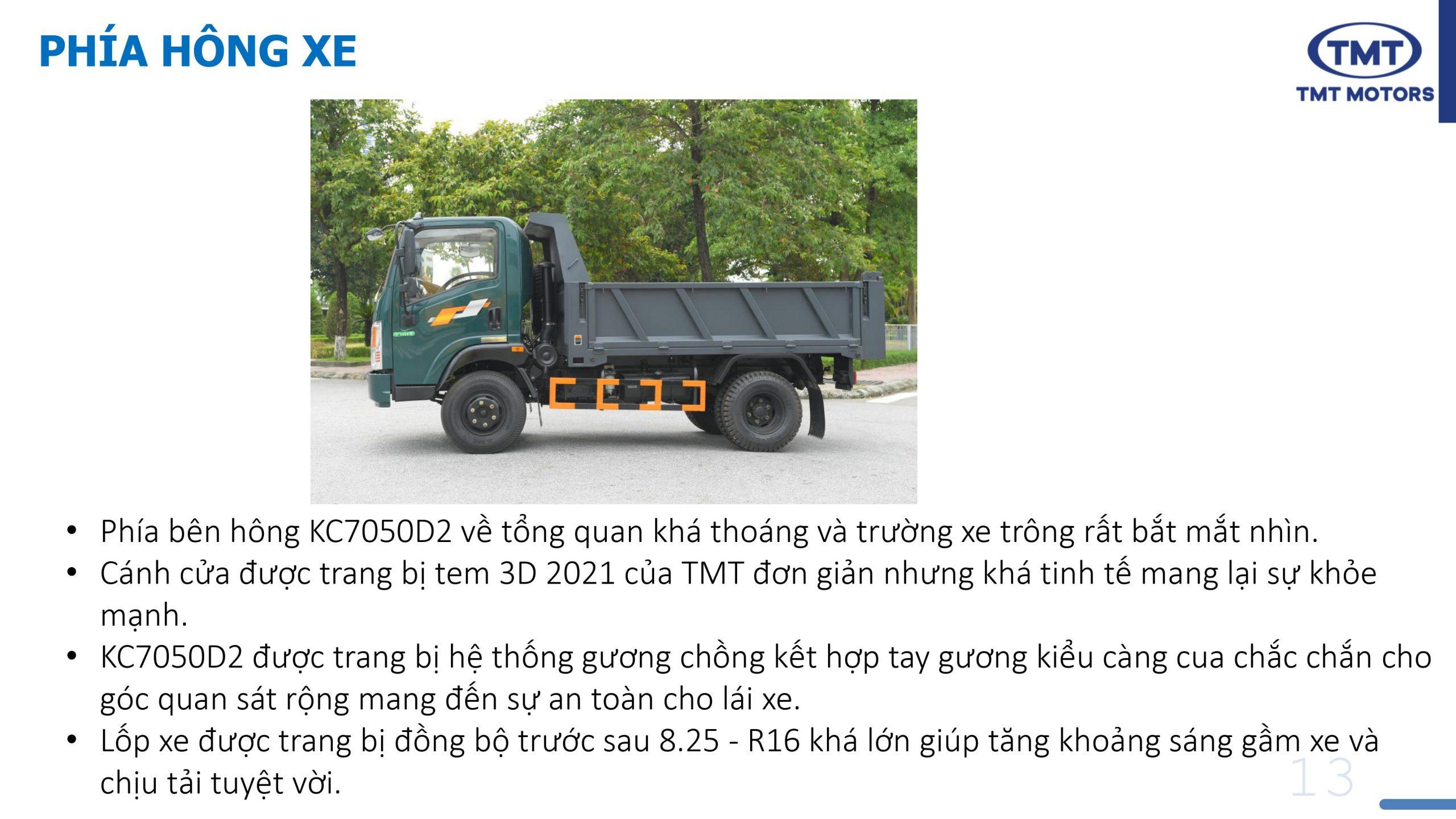 Giá Xe Ben 5 tấn 2 cầu TMT KC7050D2