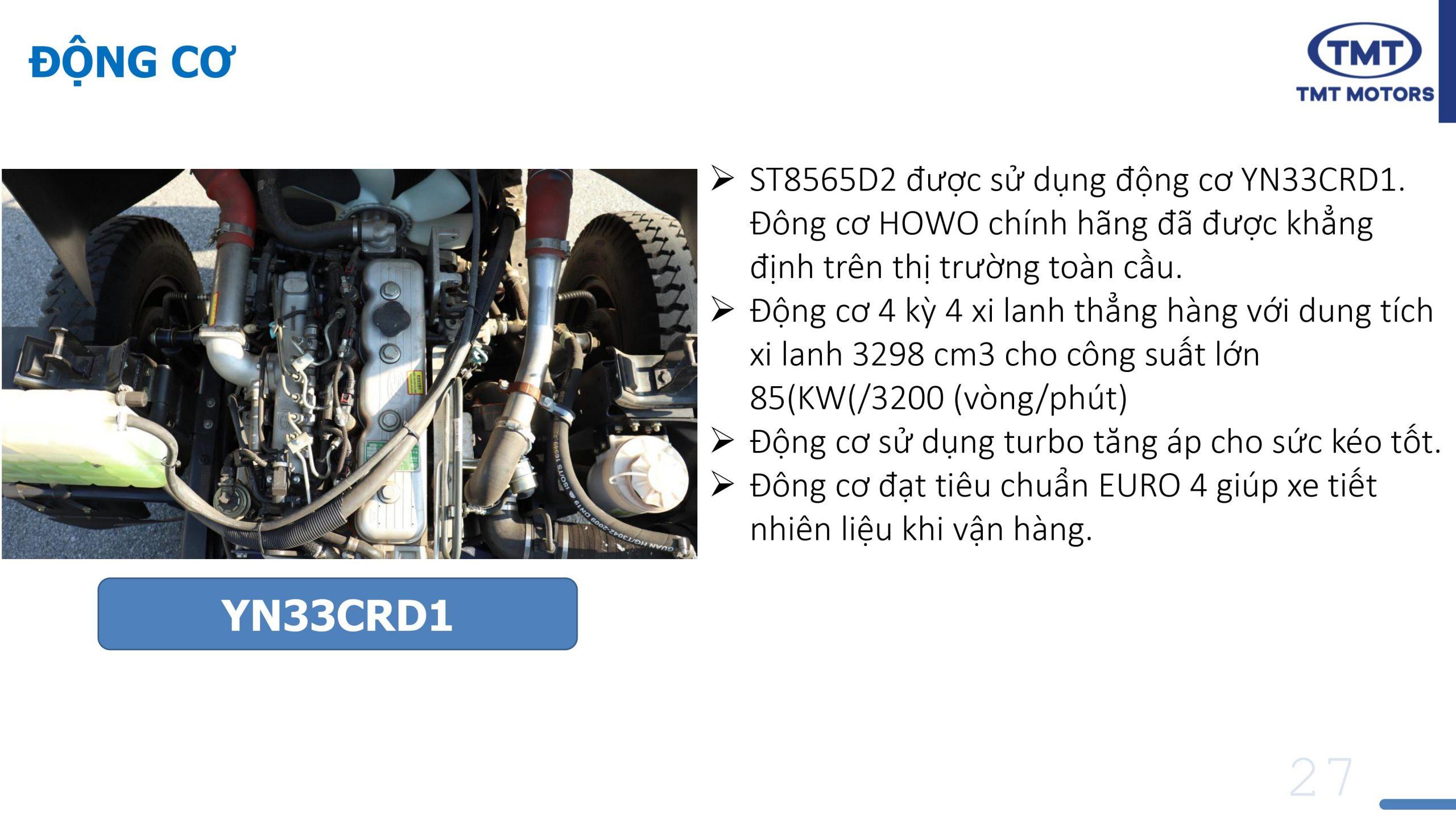 Giá Xe Ben 6.5 tấn 2 cầu TMT ST8565D2